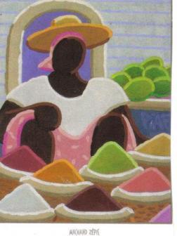 Marchande d'épices peinte par Piaf